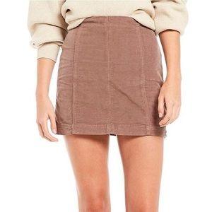 Free People Modern Femme Corduroy Mini Skirt